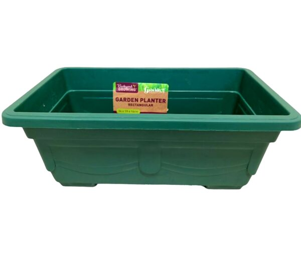 Rectangular Planter Plastic Box 34cm X 19cm X 14cm – Green