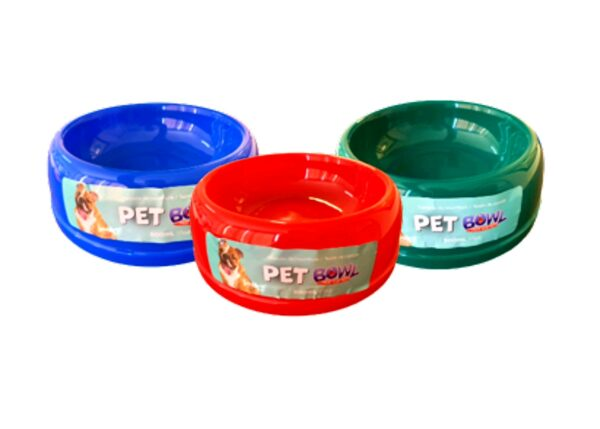 DOG BOWL ROUND PLASTIC 500ml